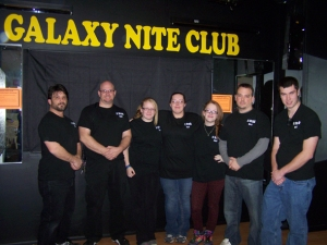 The RC Teen Activities Center Staff. Bouncers?(Source: Ravena News Herald.  Photo by Melanie Lekocevic)