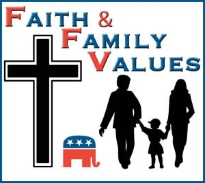 Why is itThe Republican Slogan is Faith and Family ValuesAnd the Dem Slogan is: Change?