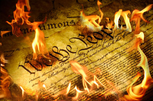 "Mayor John ""Black Mamba"" Bruno and His Hand-Picked Hatchet-Heads Nancy Warner, Martin Case, Rocco Persico, William Bailey, Annette Demitraszek Burn the Constitution Daily"