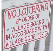 vor no loitering sign detail