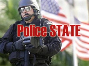 flag bkgnd police state