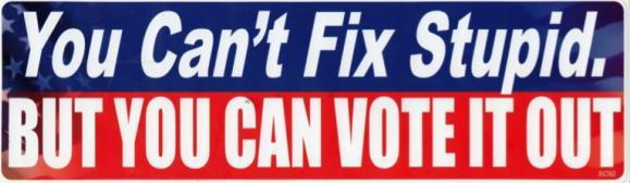 you cant fix stupid vote out 2