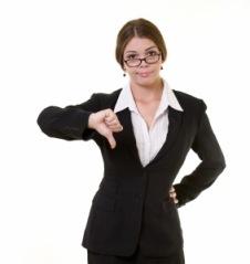 biz-woman-thumbs-down