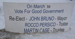 Even the Bruno-Case-Persio Signs are Shabby, Worn, Bland! Just like the shabby, worn, bland promises of the Bruno bunch.