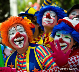 "CLOWNS SAY: VOTE ROW ""A""/"