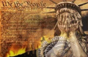 And You Wonder Why Lady Liberty is Weeping? Or is she covering her eyes because she can't bear to witness what's going on? The Editor