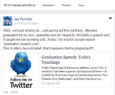 jay perrotte-mccartney plagiarized speech
