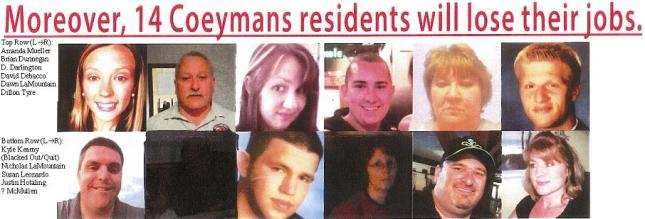Here are the mugshots featured on the AFSCME flyer distributed in Coeymans.